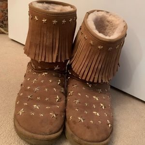 UGG Shoes - JIMMY CHOO & UGG Shearling Embellished Boots